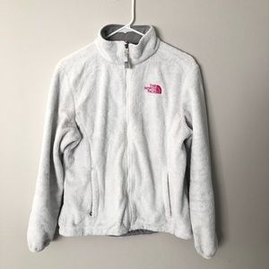 The North Face breast cancer edition plush coat